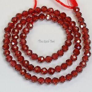 3 to 5 mm Garnet strand 18 Inch Full Strand Garnet Beads Garnet Faceted Beads