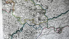 CARTE ANCIENNE - MORAVIE DUCHE SILESIE BOHEME -ORIGINALE 1803 - REHAUT AQUARELLE