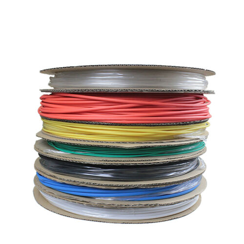 3mm Weatherproof Wire Cable Tube Sleeving 7 Color 2:1 Heat Shrink Tubing 0.6mm