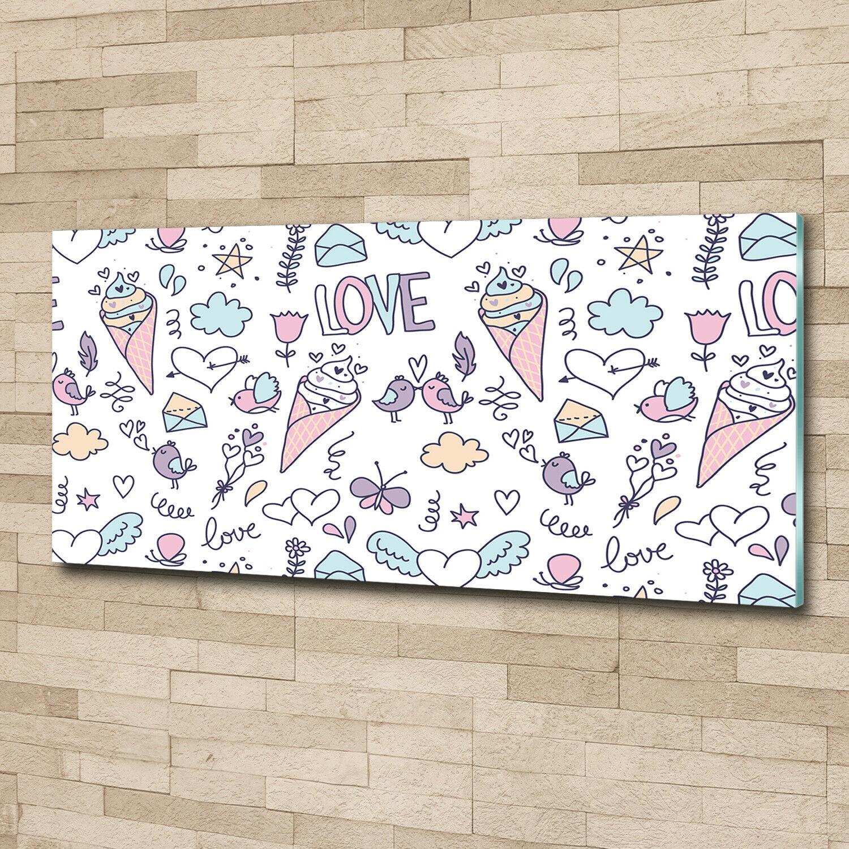 Acrylglas-Bild Wandbilder Druck 125x50 Deko Essen & Getränke Romantisches Muster