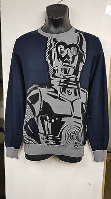 805dd540ec2 ICEBERG LIMITED EDITION STAR WARS C3PO MENS DESIGNER JUMPER SWEATER SIZES M  L XL | eBay