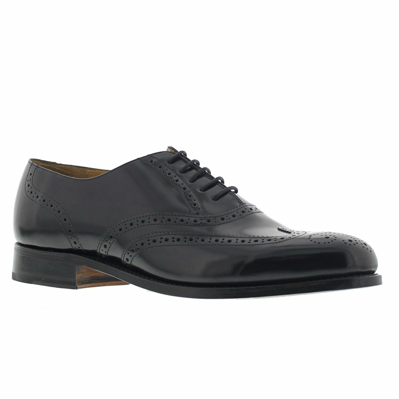 Barker Glasgow Goodyear Welted Brogue Leder Schuhes schwarz Calf 202B
