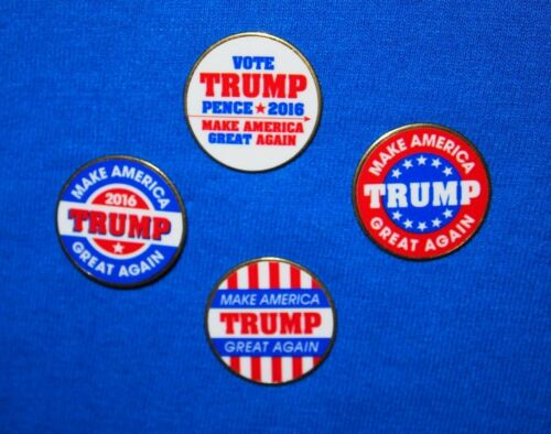 Set of 4 Trump US President 2016 Presidential Campaign Pins Election Political