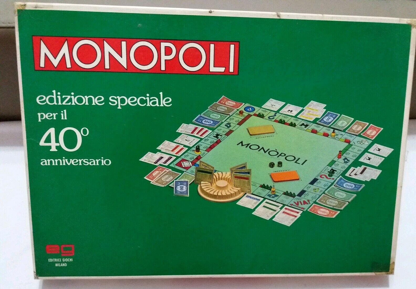 Monopoli Monopoli Monopoli Edizione Speciale per Il 40° Anniversario 262a1c
