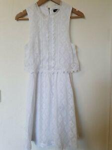 Vestido-Crochet-Capas-De-Blanco-Forrado-Prairie-Talla-10-Nuevo-Look