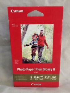 Canon-Photo-Paper-Plus-Glossy-II-4-034-x-6-034-Inkjet-Printer-Paper-100-sheets-pack