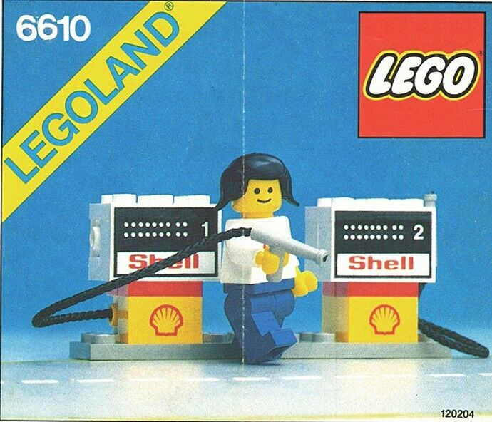 NYA Lego Classic Town 6610 LEGOLAND SELAD värld Wide Shipping Shell Gas