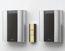 Friedland Libra+ 200m Twin Wireless Wall Mounted Chime kit, Brass Push