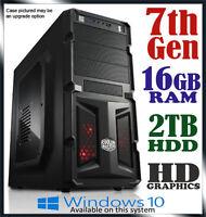 Intel Dual Core Gaming Computer 16gb Ram 2tb Office Desktop System Pc I3 I5 I7