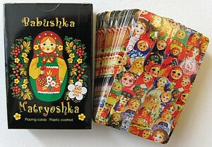 Russian-Matryoshka-Babushka-54-Playing-Plastic-Coated-Cards-Deck-Sealed