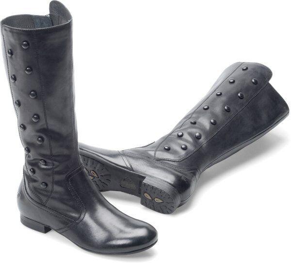 Women's Born High Flat Boot Martika Black Leather D37303