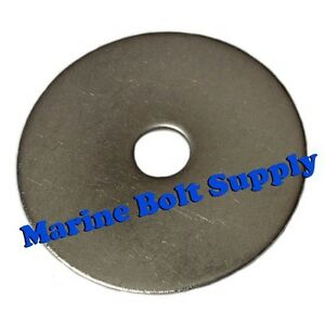 "Standard Type 18-8 Stainless Steel Fender Washers (Sizes #6 to 1/2"")"