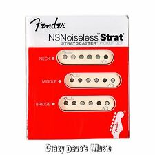 NEW Fender N3 Noiseless Stratocaster Pickup Set White Strat Pickups