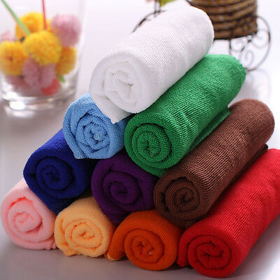 10Pcs Practical Durable Soft Fiber Cotton Face/Hand Cloth Towels Washcloths