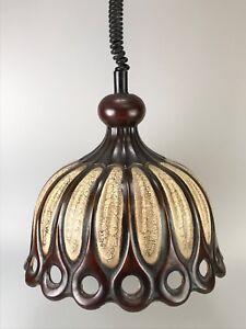 60er-70er-Jahre-Lampe-Leuchte-Keramik-Deckenlampe-Deckenleuchte-Space-Age-Design