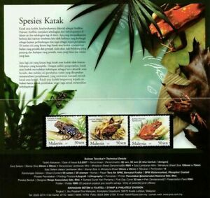 SJ-Frogs-Of-Malaysia-2007-Animal-Amphibians-Fauna-Wildlife-Pond-p-pack-MNH