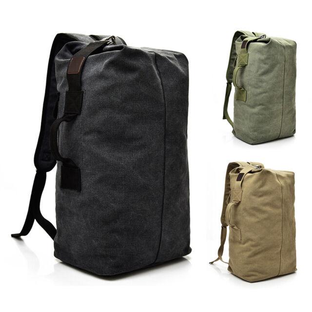 25L 35L Men/'s Canvas Backpack Shoulder Bag Sports Travel Duffle Handbag Luggage