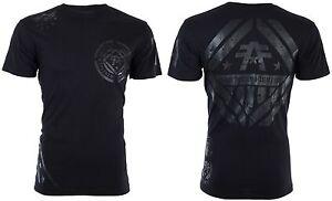 AMERICAN-FIGHTER-Men-T-Shirt-AVERETT-Athletic-BLACK-REFLECTIVE-Biker-Gym-40