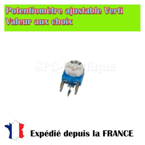 Potentiométre Ajustable (Resistance Variable) Verticale 1M ohms / 100mW