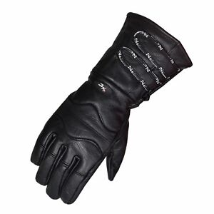 Motorcycle Gloves Cowhide Winter Riding Leather Biker Leather Long Gloves Ebay