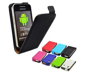 Schutzhulle-f-Samsung-Galaxy-Ace-S5830-Leder-Imitat-Flipcase-Case-Cover-Tasche