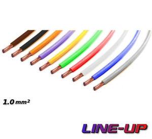 Kabel 1,0 qmm grau//grün 1m  Litze Leitung Fahrzeug