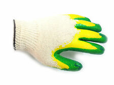 300 Pairs Green Double Dipped Latex Palm Coated Work Safety Glove -Made in Korea