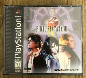 Final-Fantasy-VIII-Black-Label-Ps1-Playstation-1-Complete-W-box-amp-Manual