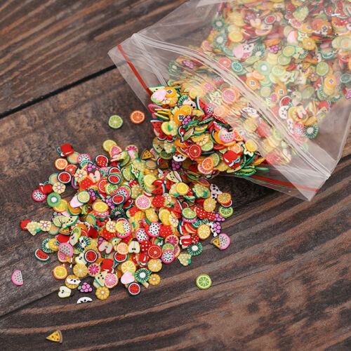 1000 Dollhouse Miniature Assorted Fruit Slices Food DIY Fimo Nail Art Craft 1//12