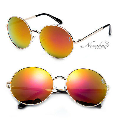 IG Women Round Circular Lens Fashion Sunglasses Metal Frame REVO or Tinted Lens