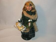 Byers Choice 1996 Sweet Blond Teen Girl in Fur Trimmed Coat Carrying Gifts