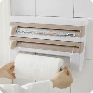 Kitchen Roll Dispenser Cling Film Paper Towel Holder Wall Mounted Foil Storage S Ebay