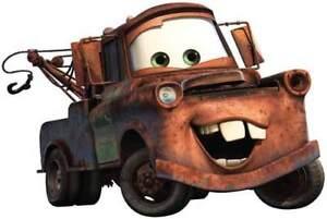 Walt Disney Pixar Studios Cars Film Mater Tow Truck Window Cling