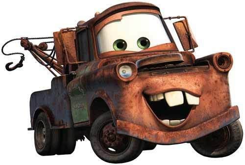 9d392d38b9 Walt Disney Pixar Studios CARS Film MATER Tow Truck - Window Cling Decal  Sticker