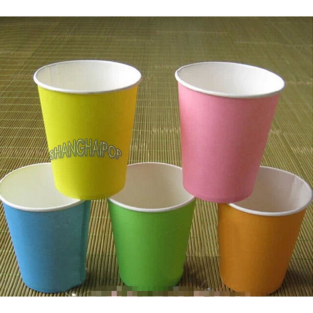 100 X Disposable Paper Cups Plastic Wedding Vending Party Tumblr Glasses Picnic