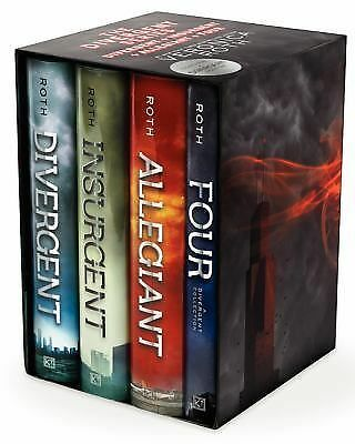 Divergent Series Ultimate Four-Book Box Set by Veronica Roth Hardcover Books NEW