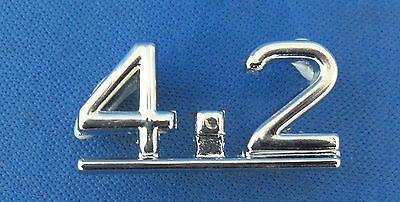"""JAGUAR 4,2 /"""" /""""badge coffre chrome fits Jaguar Type E série 1 /& 2 4.2 bd26766"""