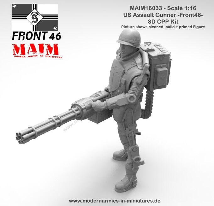 MAiM 1 16 What If 1946 - US Assault Gunner w Railgun Front46