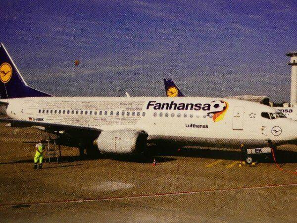 1 500 Herpa Lufthansa Boeing 737-300 Fanhansa 529594
