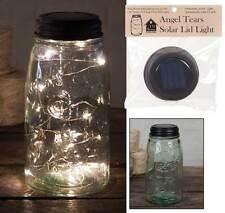 Primitive/Farmhouse/Cottage/Country Solar Lid Light - Angel Tears