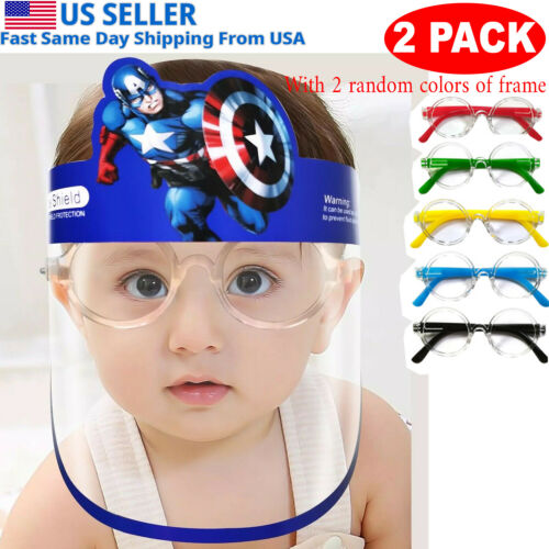 Kid Face Shield for boy girl reusable Washable Safety protection clear cover,USA