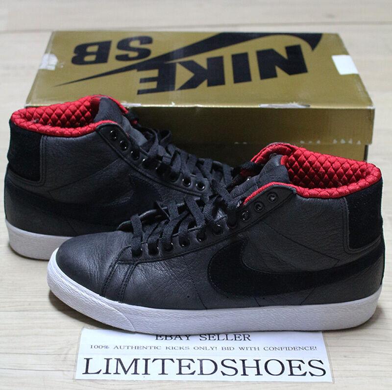Nike blazer sb elite rosso 334106-001 lance mountain 334106-001 rosso noi 9,5 rasta sub pop 1a7197