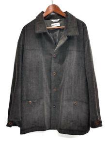 Barry-Bricken-Mens-XL-Cordouroy-Brown-Made-in-USA-Jacket-Sport-Coat-Light-Coat
