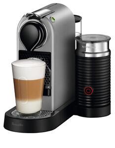 Nespresso By Breville BEC650MS Citiz & Milk Capsule Coffee Machine: Silver