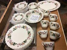 Hedgerow staffordshire Myott olde Chelesa China set England plates cups bowls +