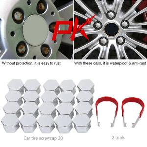 20 17mm CROMATO LEGA Ruota Dado Coperchi Bullone TAPPI UNIVERSALE Set per Mercedes-Benz