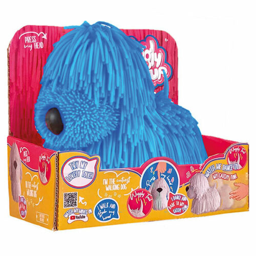 Jiggly Welpe Blau Boti Hund Gummi beweglich