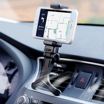 New Black Car Air Vent Mount Cradle Holder Stand For Mobile Smart Cell Phone GPS