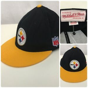 f2a9672e086 MITCHELL NESS Men NFL Pittsburgh Steelers Snapback Cap Sz Fitted 7-1 ...
