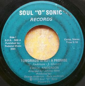 DETROIT-SOUL-45-CAROL-ANDERSON-We-ve-Got-Enough-Tomorrow-Is-Not-a-Promise
